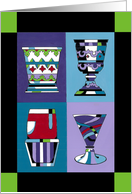 Passover Four Cups, Goblets, Wine card