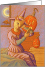 Halloween Cat Witch, Halloween Witch Cat card