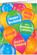 Bright Balloons for Employees Business Happy Birthday card