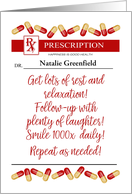 Custom Front Name Prescription for Doctor Happy Doctors Day card