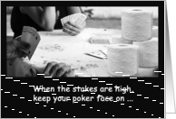 Poker With Toilet Paper TP Shortage Coronavirus Pandemic Humor card