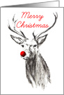 Christmas Red Nosed Reindeer card