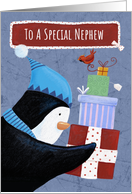 Christmas Special Nephew Penguin Parcels card