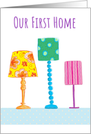 Our First Home Modern Lamps card