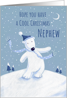 Cool Christmas Nephew Blue Polar Bear card