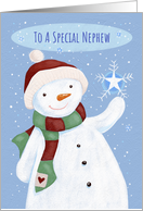 Nephew Christmas Cheer Snowflake Snowman card