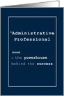 Administrative Professional Dictionary look Navy and White card
