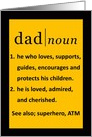 Happy Father's Day Black and Gold Dictionary Definition card
