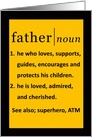 Father Happy Birthday Dictionary Definition card