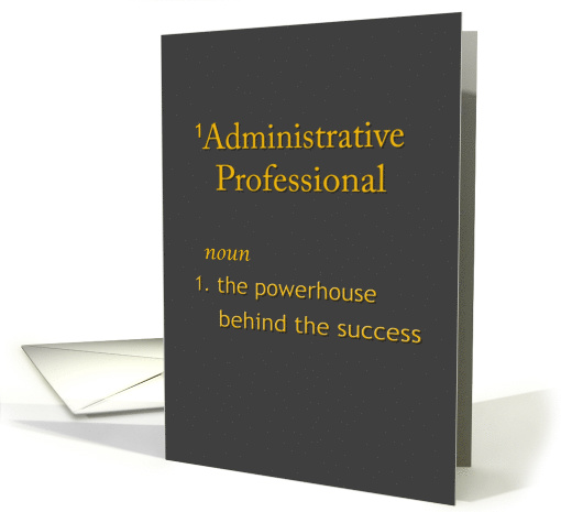 Administrative Professional Chalkboard look Dictionary Spoof card