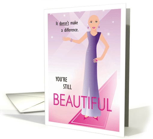 Female Cancer Patient Get Well Being Bald Is The New Beautiful card