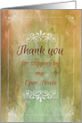 Thank You for Stopping By My Open House, Watercolor Background, Door card