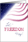 Let Freedom Ring Fourth of July USA Flag Stars card