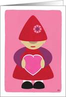 Thinking Of You Gnome With Heart card