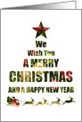 Wish You a Merry Christmas Holiday Tree Happy New Year card