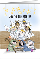 Christmas Card With Children's Nativity Pageant Joy to the World card