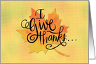 Give Thanks for Friends at Thanksgiving Maple Leaf card