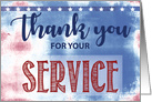 Thank You For Your Service Military Appreciation Distressed Background card