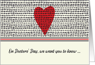 Doctors Day Heart from Group card