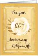 60th Anniversary of Religious Life Nun White Rose card