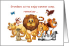 Grandson Thinking of You at Summer Camp Wild Animals card