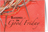 Good Friday Crown of Thorns card
