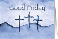 Good Friday Crosses in Purple Watercolor card