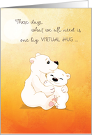 Coronavirus COVID-19 Bear Hugs For You card