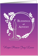 Advent Blessings Wreath Candle Purple card