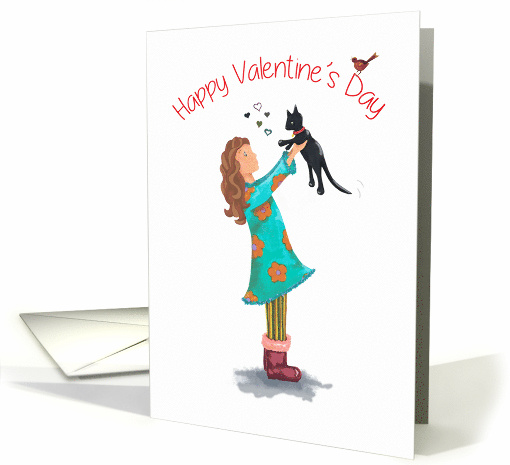 Cat Valentine's Day Wishes for Her card (1656486)