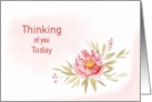 Thinking of You Today with a Red Flower for Any Occasion card