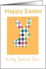 For Son on Easter Colorful Eggs card