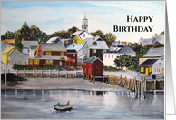 General Birthday Fine Art Portsmouth Harbor New Hampshire Painting card