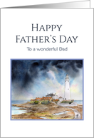 For Dad on Father's Day St Mary's Lighthouse Whitley Bay card