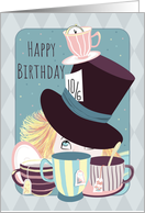 Birthday for Friend Mad Hatter Tea Party card