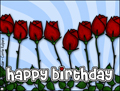 happy birthday, b-day, congratulations, flowers, red roses, rose, bday, red, thorns, love, family, cousin, relative, parents